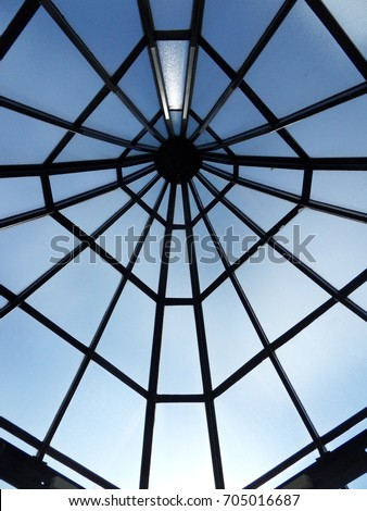 glass roof from below #705016687