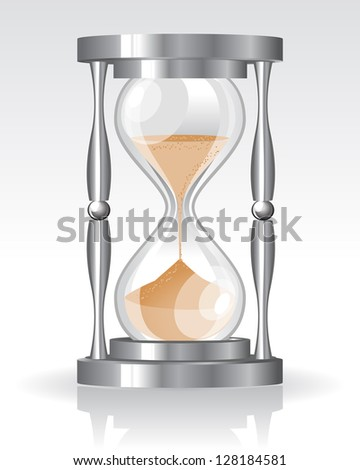 Glass sand clock. Raster version. Vector is also available in my gallery
