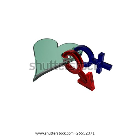 stock photo glass sex symbols linked with heart computer generated d photo rendering 26552371 I had been dragging my feet on it, because (1) I've had other things to ...