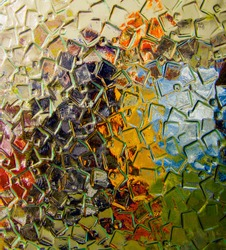 glass shards in dark and light colors