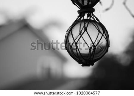 glass sphere in a net #1020084577