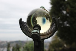 glass sphere in the observatory