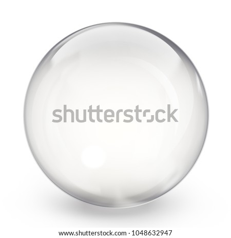 glass sphere isolated on a white. 3d illustration