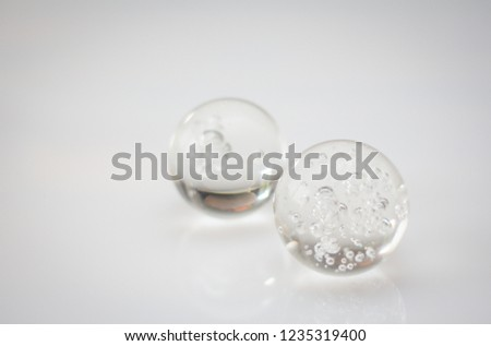Glass spheres on a White Background  #1235319400