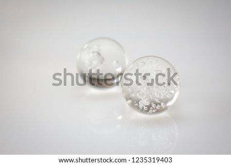Glass spheres on a White Background  #1235319403