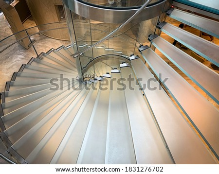 Glass stairs at Co-Working Space on social distancing with luxury comfortable design for work as free and relax.  Photo stock ©