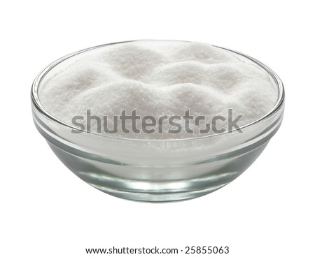 Glass Sugar Bowl isolated on white with a clipping path