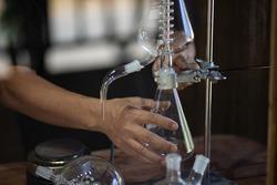 Glass tube test tube liquid distillation