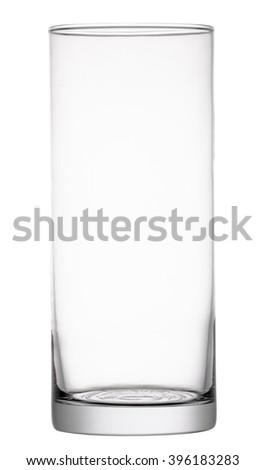 Glass vase isolated on white background. Include clipping path. #396183283
