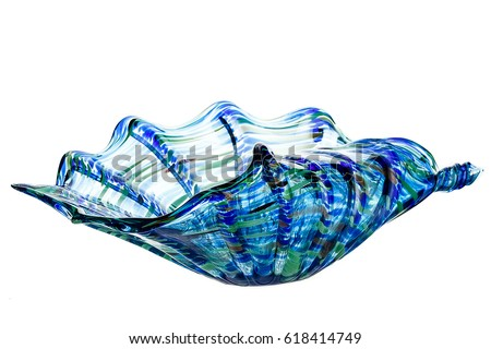 Glass vase, on a  isolated white background #618414749
