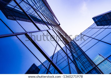 Glass wall in modern architecture #1360271978