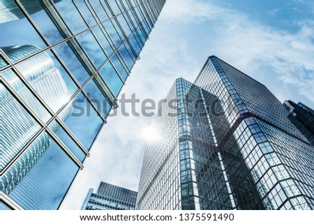 Glass wall in modern architecture #1375591490
