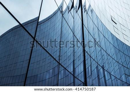 glass wall in modern office...