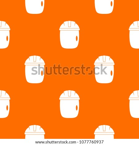 Glass welding mask pattern repeat seamless in orange color for any design. geometric illustration #1077760937