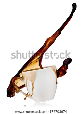 Glass with coffee up