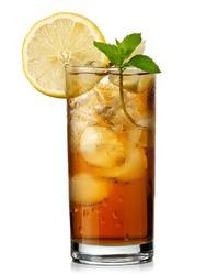 Glass with ice tea