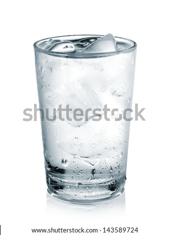 Glass with water and ice