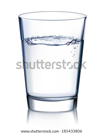 Glass with water isolated. Illustration
