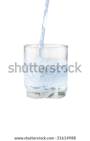 Glass with water isolated on white