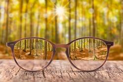 Glasses as correction against ametropia