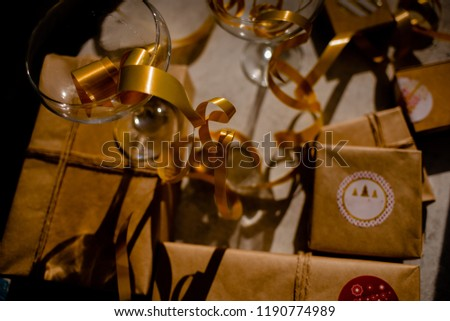 glasses champagne new year background 1190774989