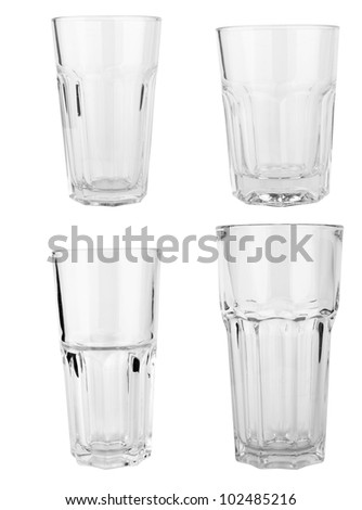 glasses collection isolated on a white background