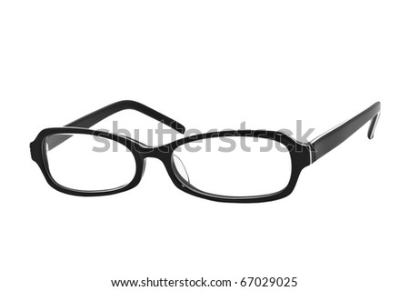 Glasses, isolated on white background