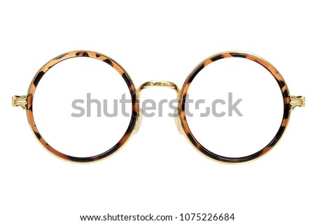 Glasses isolated on white background for the design of portraits #1075226684