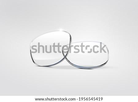 Glasses Lenses Contact Lenses 3D Illustration Foto stock ©