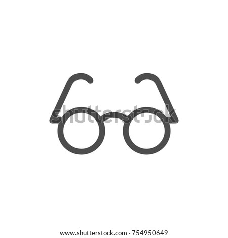 Glasses line icon isolated on white