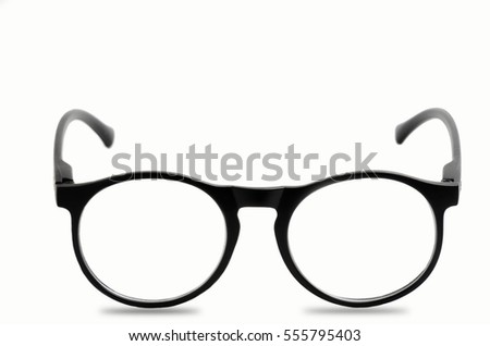 Glasses on isolated and white background