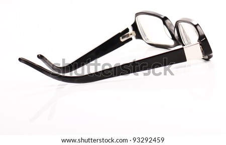 Glasses on the table with reflection - stock photo