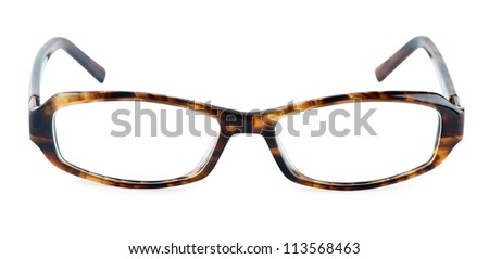 Glasses on white background