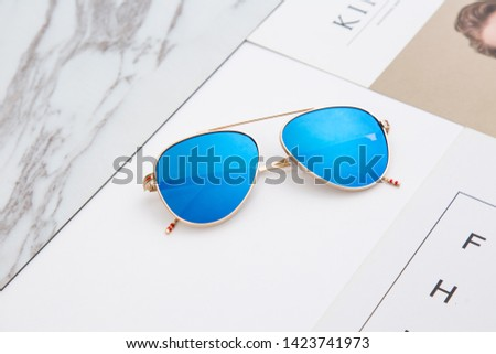 Glasses sunglasses sunglasses sunshade mirror Nordic minimalism macaron fresh #1423741973