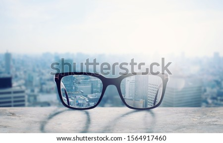 Photo of  Glasses that correct eyesight from blurred to sharp