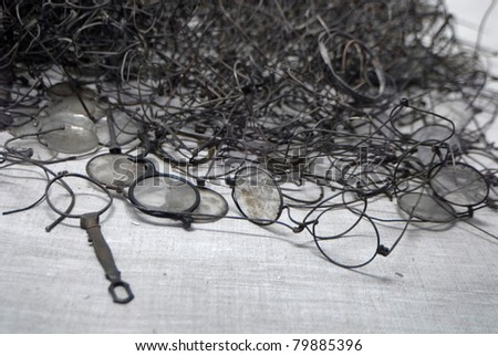 Glasses who once belonged to the jews and other prisoners from Auschwitz