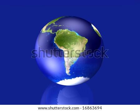 Glassy Globe - South America