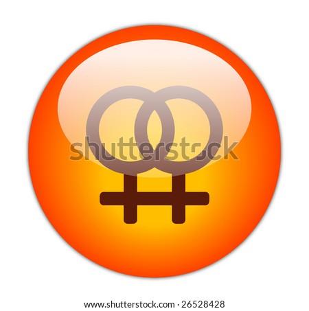 Glassy Red Lesbian Icon