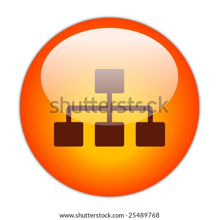 Glassy Red Network Icon