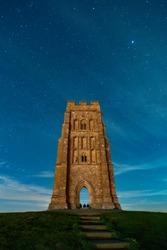 Glastonbury Tor at Night
