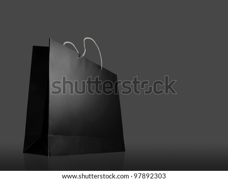 Glaze shopping bag on black background