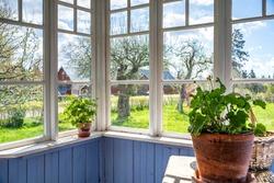Glazed Porch in Old Cottage rural House