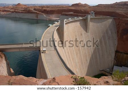 Glen Canyon Dam and Lake Powell Arizona