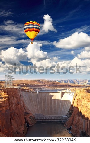 Glen Canyon Dam and Lake Powell USA