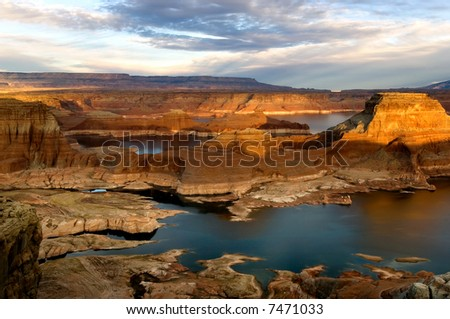 Glen Canyon National Recreation area, Alstrom point - stock photo