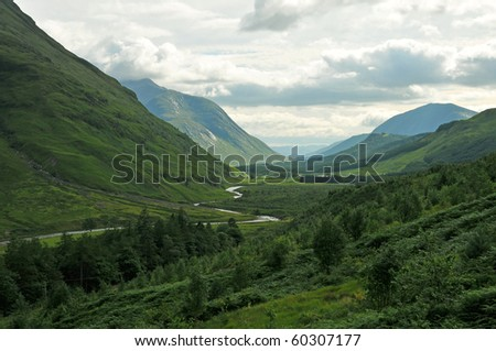 Glen Etive in the Scottish Highland
