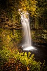 Glencar Waterfall in County Leitrim