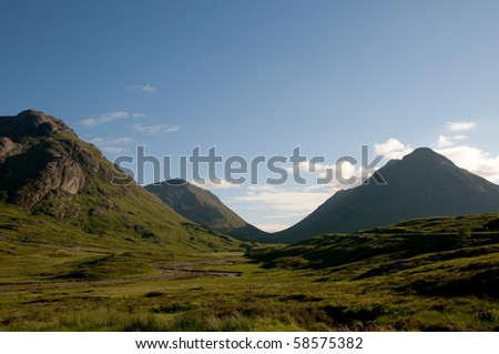 Glencoe in Scottish Highlands