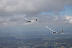 Glider in the Tatra Mountains.