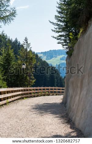 Glimpse of Selva di Val Gardena, Wolkenstein in Gröden, Val Gardena, Bolzano, Trentino Alto Adige, Italy #1320682757